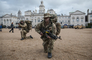 British Army reservist soldiers of the Honourable Artillery Company [Picture: Sergeant Adrian Harlen, Crown copyright]