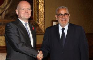 Foreign Secretary William Hague and Serbian Prime Minister Ivica Dacic