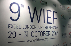 9th World Islamic Economic Forum taking place in London, 29 - 31 October 2013.