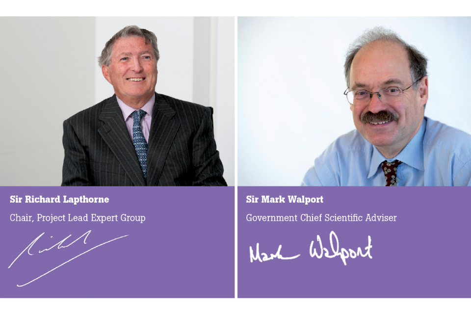 Sir Richard Lapthorne and Sir Mark Walport