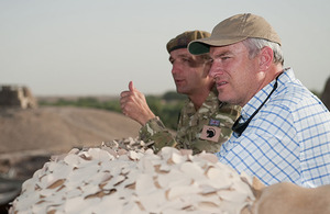 Nick Harvey surveys the area of operations during his recent visit to Helmand province