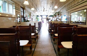 Inside of pie and mash shop
