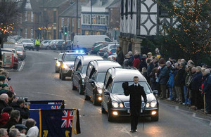 Funeral cortege of a serviceman killed on operations