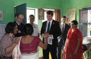 Chief Secretary to the Treasury Danny Alexander in India