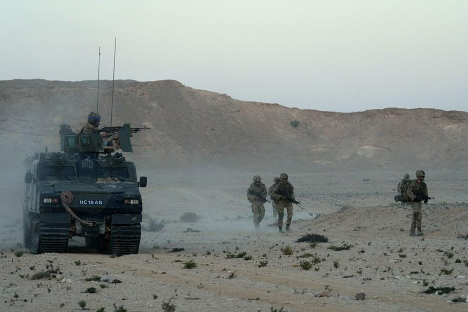 Royal Marines on exercise in Oman