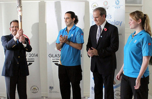 His Royal Highness Prince Sufri with the Baton