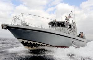 HMS Sabre of the Royal Navy's Gibraltar Squadron