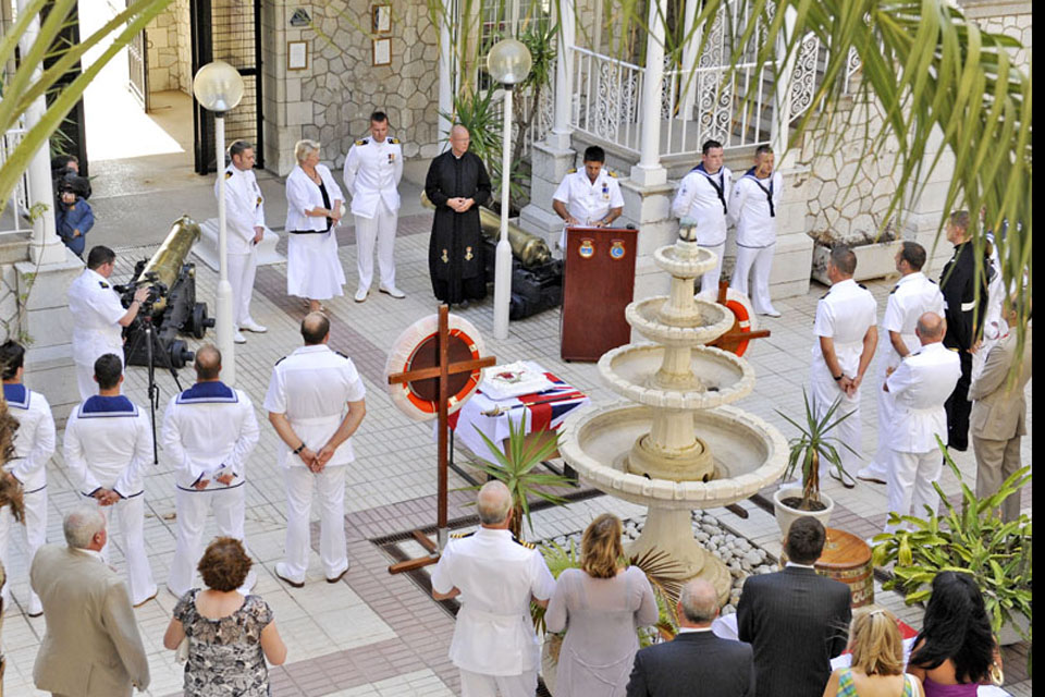 The rededication ceremony and reception for the Royal Navy's Gibraltar Squadron as it celebrates its 25th anniversary