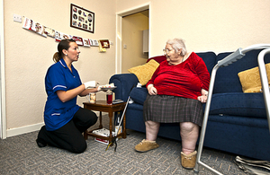 Carer providing food in the home