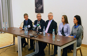 Press conference with Elbląg's Mayor Jerzy Wilk