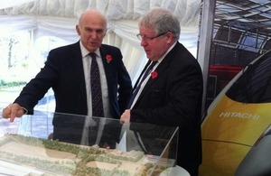 Vince Cable and Patrick McLoughlin at the visit