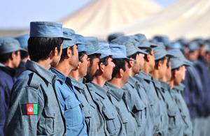 Passing out parade at the Helmand Police Training Centre