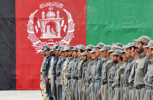 New Afghan National Police recruits