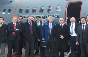 Delegates on the way to Semey