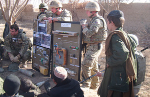British paratroopers teach an Afghan community to spot the signs of a range of improvised explosive devices