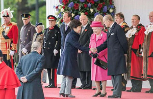 South Korean President Park Geun-Hye meeting The Queen and The Duke of Edinburgh