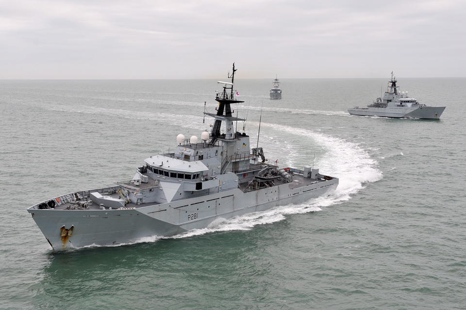HMS Tyne, HMS Severn and HMS Mersey (library image)
