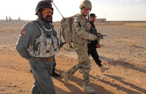 Colonel Sattar surveys the area of operations with Major Nick Wight-Boycott