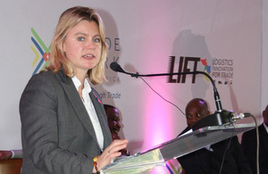 Development Secretary Justine Greening at the launch of the LIFT fund in Tanzania