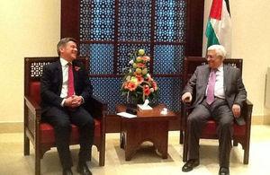 Hugh Robertson and Palestinan President Abbas