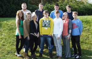 Apprentices from EE's apprenticeship programme.