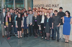 Young people from Slaughter and May's Key Project