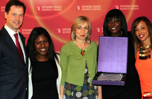The Channel 4 team picking up their award.