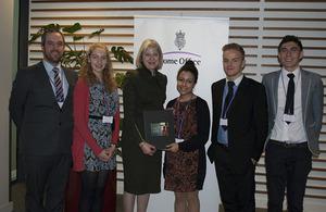 Home Secretary receives anti-slavery petition.
