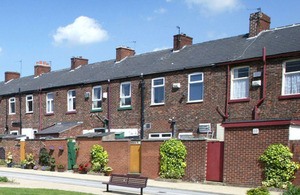 Terraced houses.