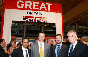 L to R: Anil Vaidya and Gordon Innes from London & Partners, Huw Williams (Oury Clark), Nick McInnes (UKTI)
