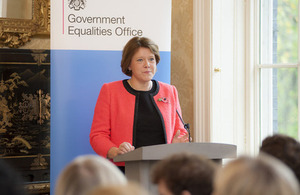 Maria Miller speaking at Women in the Workplace Summit