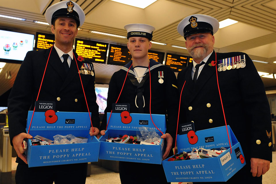Royal Navy personnel help raise funds