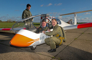 Armed Forces Minister Mark Francois in a Viking glider [Picture: Philip Jones, Crown copyright]
