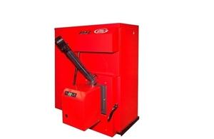 Condensing biomass boiler