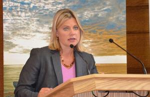 DFID Secretary, Justine Greening