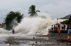A storm surge triggered by Typhoon Haiyan in San Andres, Catanduanes. Picture: Allan Tapado/YouScoop