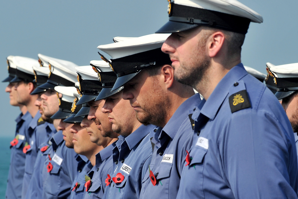 Sailors on board HMS Montrose