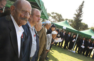 Lebanese & Palestinian war veterans and officials at 'Remembrance Day' ceremony-Beirut
