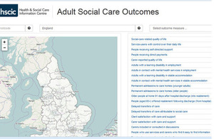 Image of the Adult Social Care Outcomes Framework map