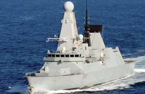 HMS Daring on operations in 2012 [Picture: Ministry of Defence]