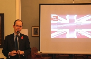 Sebastian Wood, British Ambassador to China made a speech in the Pact reception.