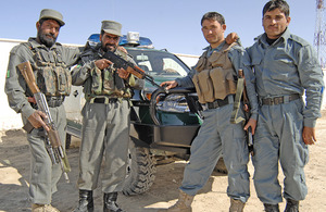 Members of the Afghan police