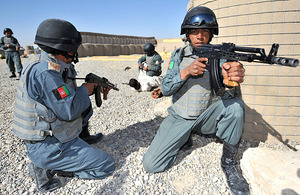 Afghan National Police recruits