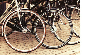 A set of bicycle wheels