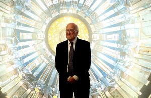 Peter Higgs at the launch of the Collider exhibition