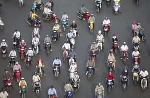 Commuters in Vietnam