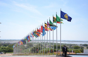 Commonwealth Flags in Sri Lanka