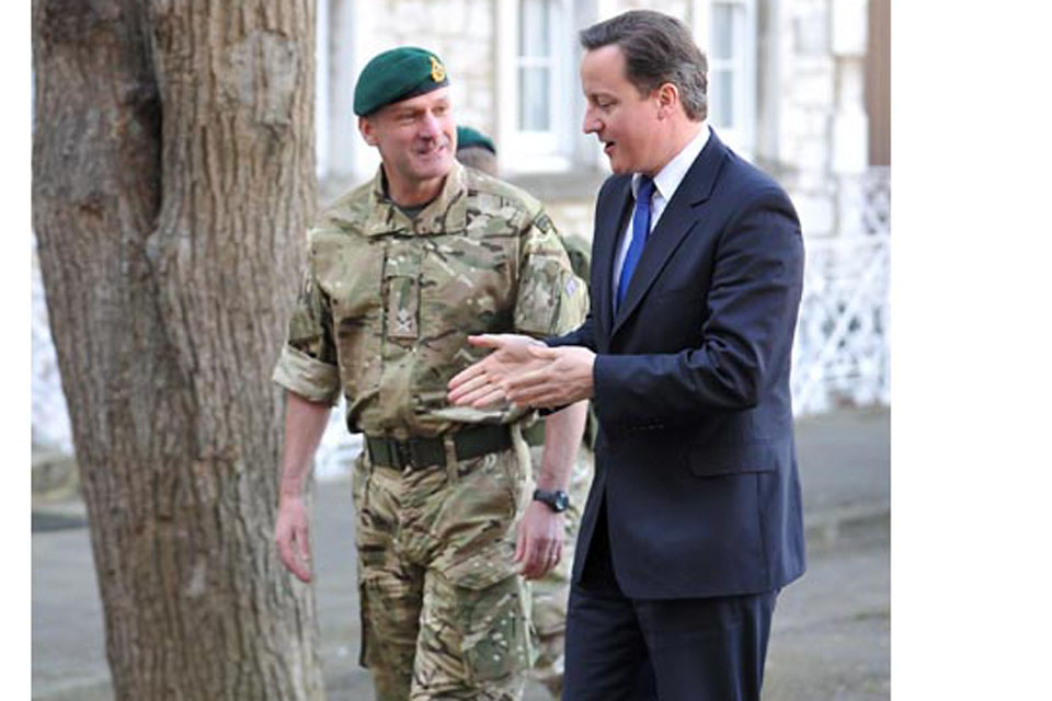 Prime Minister David Cameron visiting 3 Commando Brigade Royal Marines in Plymouth