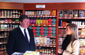 Alistair Carmichael with Kirsty Gillies of Angelic Gluten Free
