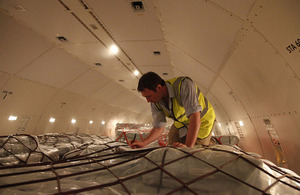 UK-funded humanitarian flight arrives in Cebu, Philippines. Picture: Simon Davis/DFID